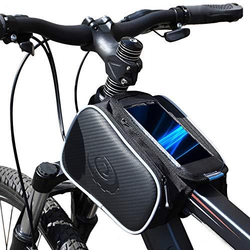 Lixada Bicicletta Borsa Manubrio Bicicletta Tubo Superiore Anteriore Pannier della Struttura Borsa a Doppia Borsa per Cellulare di 5.5inch