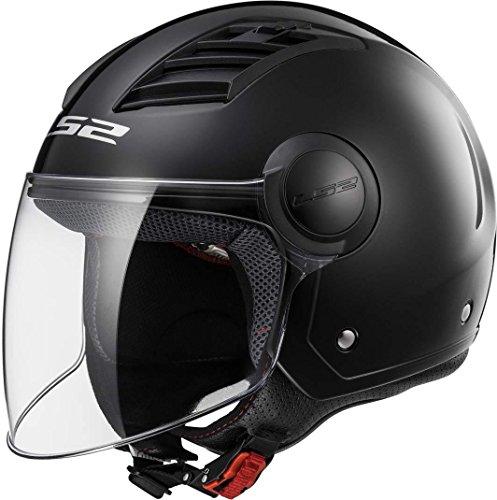 LS2, casco moto jet Airflow nero opaco, XS