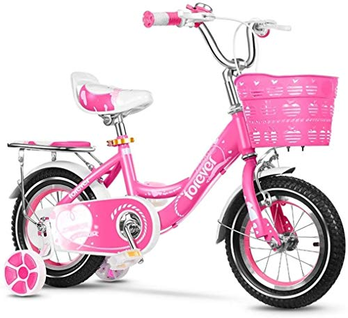 MGE Biciclette for Bambini, noleggio Biciclette al Coperto Cyclette for Kids Outdoor Rosa Bici Bella Principessa Bike Ragazza Esercizio Ragazze