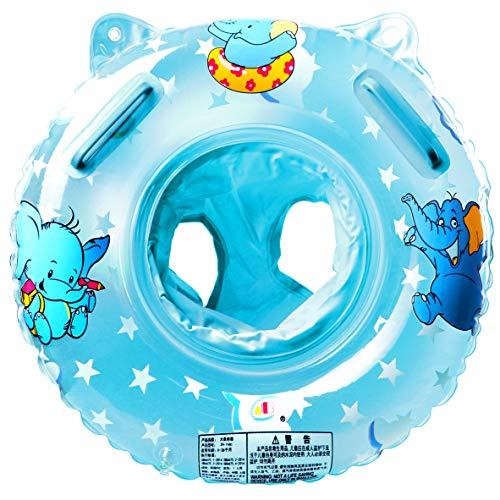 Salvagente Collo Neonato Gonfiabile Regolabile Salvagente Neonate da 6 a 36 Mesi di Bambini (blu-2)