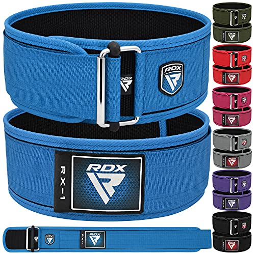 """RDX Cintura Palestra Sollevamento Pesi 4"""" Supporto Lombare Posteriore Schiena Allenamento della Forza, Fitness, Muscoli, Deadlifts Workout Squat da Palestra Domestica"""