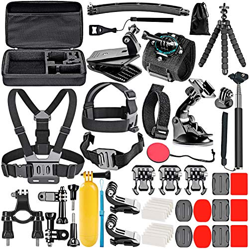 Neewer 50-In-1 Kit di Accessori per Action Camera, compatibile con GoPro Hero10/Hero9/Hero8/Hero7, GoPro Max, GoPro Fusion, Insta360, DJI Osmo Action, AKASO, APEMAN, Campark, SJCAM